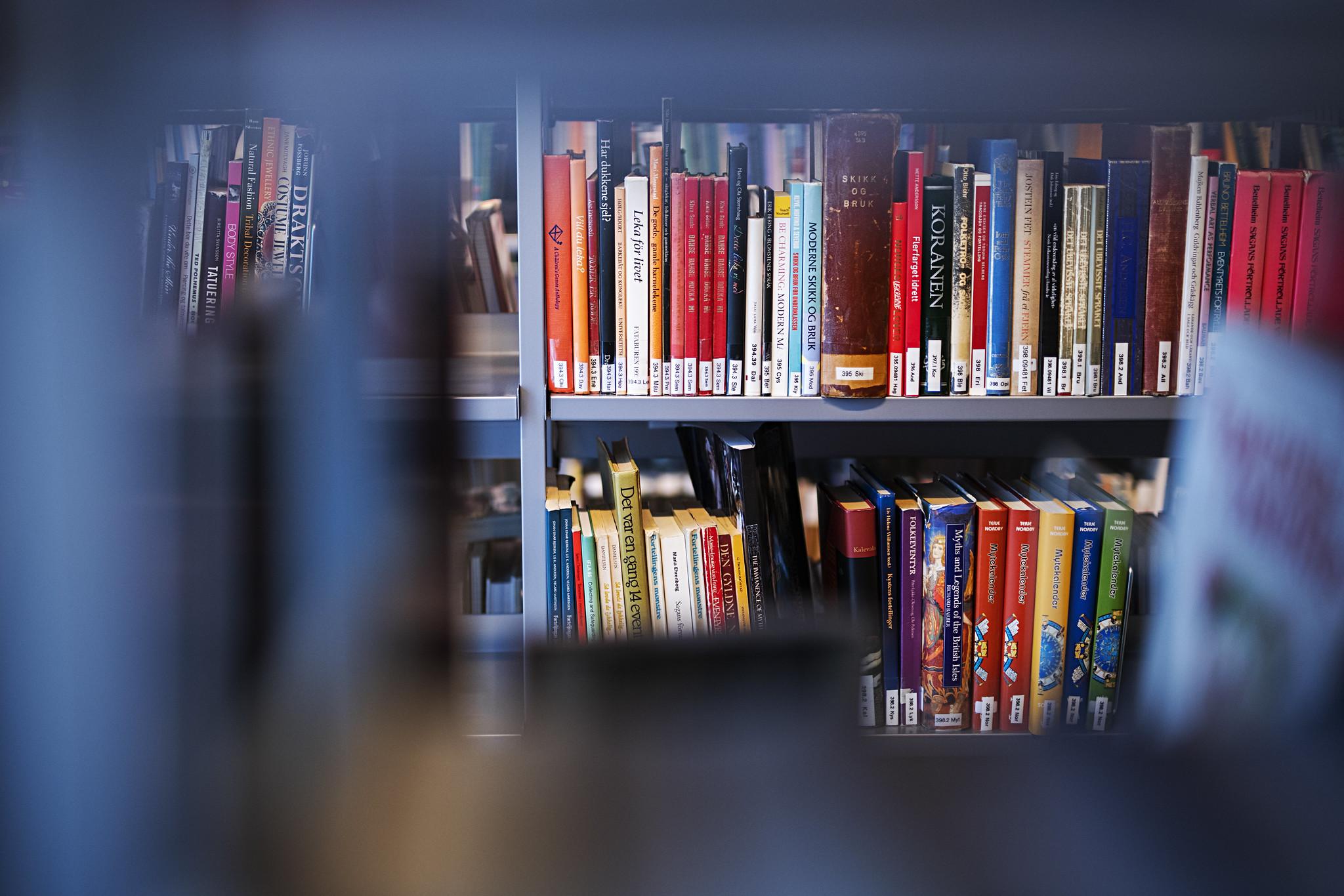 Bokhylle med fagbøker